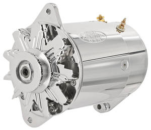 1959-62 Grand Prix Alternator, PowerGen Short Housing W/Light Terminal Chrome