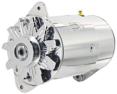 1961-1962 LeMans Alternator, PowerGen Long Housing, Standard Chrome, by POWERMASTER
