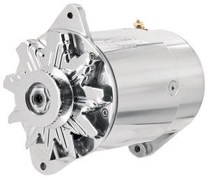 1961-1962 LeMans Alternator, PowerGen Short Housing, Standard Polished, by POWERMASTER