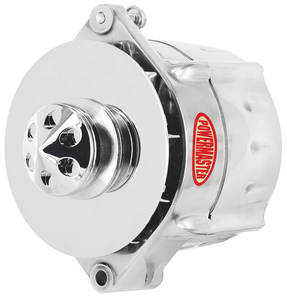 1959-1977 Catalina/Full Size Alternator, Smooth Look 1-Groove Pulley Polished, 150-Amp