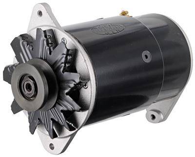 1959-1962 Bonneville Alternator, PowerGen Long Housing, Standard Black, by POWERMASTER