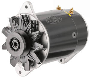 1954-62 Cadillac Alternator, PowerGen Short Housing With Light Terminal (Black Finish)