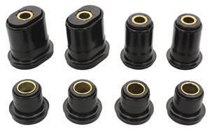 1970-72 Monte Carlo Control Arm Bushing Set, Front (Urethane) (Oval Bushings)