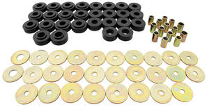 1964-1964 Cutlass Body Bushing Sets, Aftermarket Urethane Coupe/Convertible, by Prothane