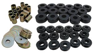 1965-67 Body Bushing Sets, Aftermarket Urethane Coupe/El Camino