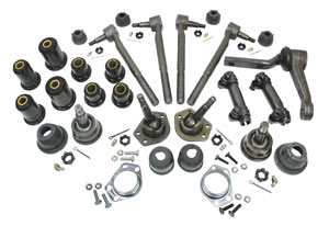 1970 Monte Carlo Front End Rebuild Kit, Polyurethane (with Oval Bushings)