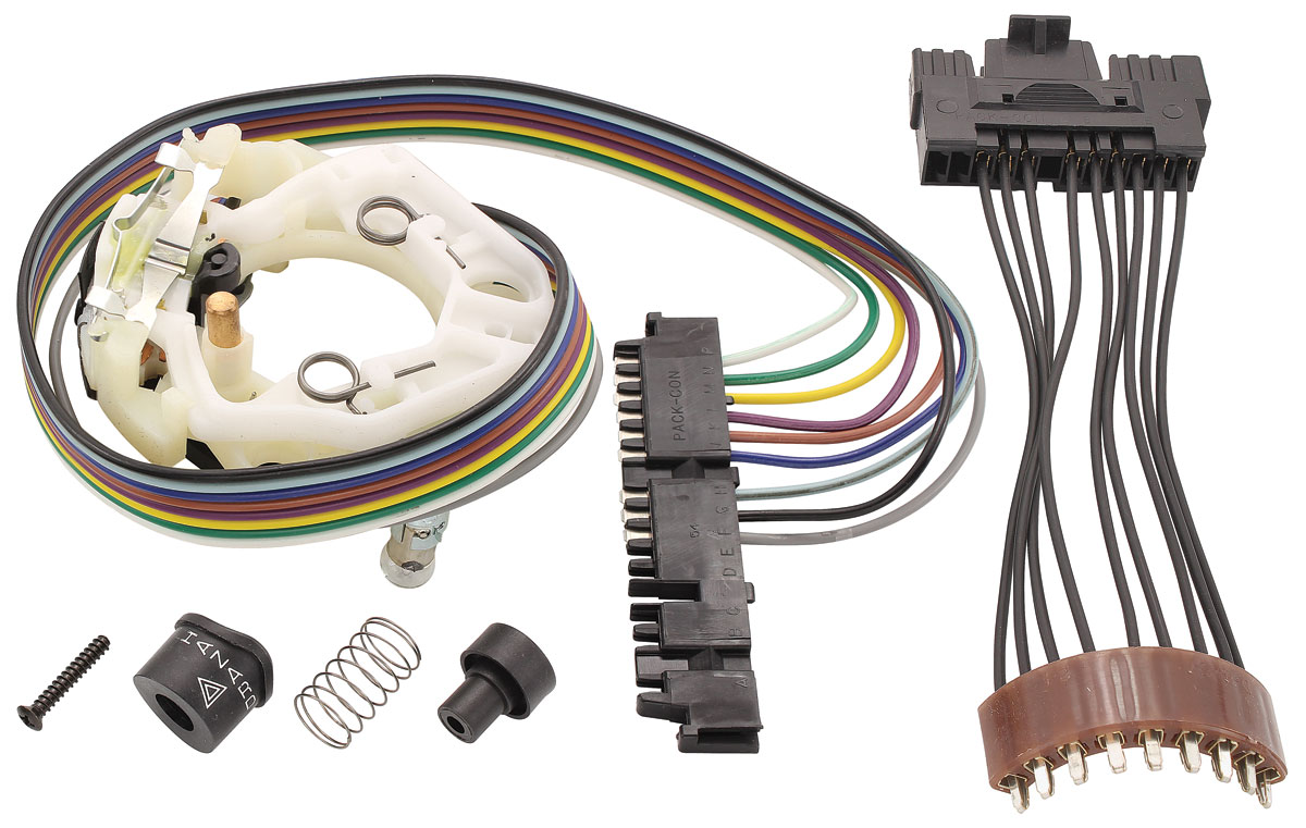 Photo of LeMans Turn Signal & Hazard Light Switch Assembly MT column & floor shift, Delco white