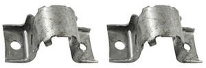 1964-1973 GTO Stabilizer Shaft Bracket, Front Silver Zinc