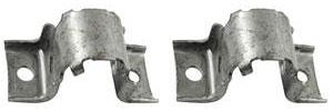 1978-88 Malibu Stabilizer Shaft Bracket (Front) Silver Zinc