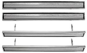 1966-1966 El Camino Door Panel Medallions 4-Piece