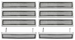 1967-1967 Chevelle Door Panel Medallions 8-Piece, by PUI