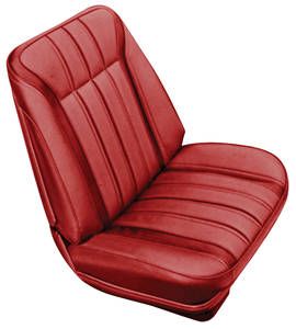 Seat Upholstery, 1968 Parisienne 2+2 Buckets w/Coupe Rear