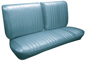1968-1968 Grand Prix Seat Upholstery, 1968 Parisienne Split Bench, by PUI