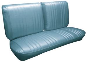 1968-1968 Bonneville Seat Upholstery, 1968 Parisienne Split Bench, by PUI