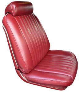 1969-1969 Grand Prix Seat Upholstery, 1969 Parisienne Buckets w/Coupe Rear, by PUI