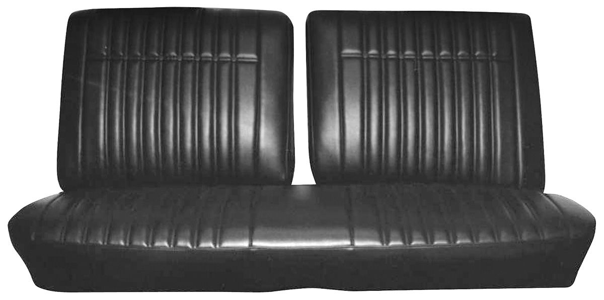 Photo of Seat Upholstery, 1970 Parisienne rear seat, coupe