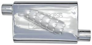 """1978-88 El Camino Mufflers, Pypes Violator 304SS, 2-1/2"""" I/O"""