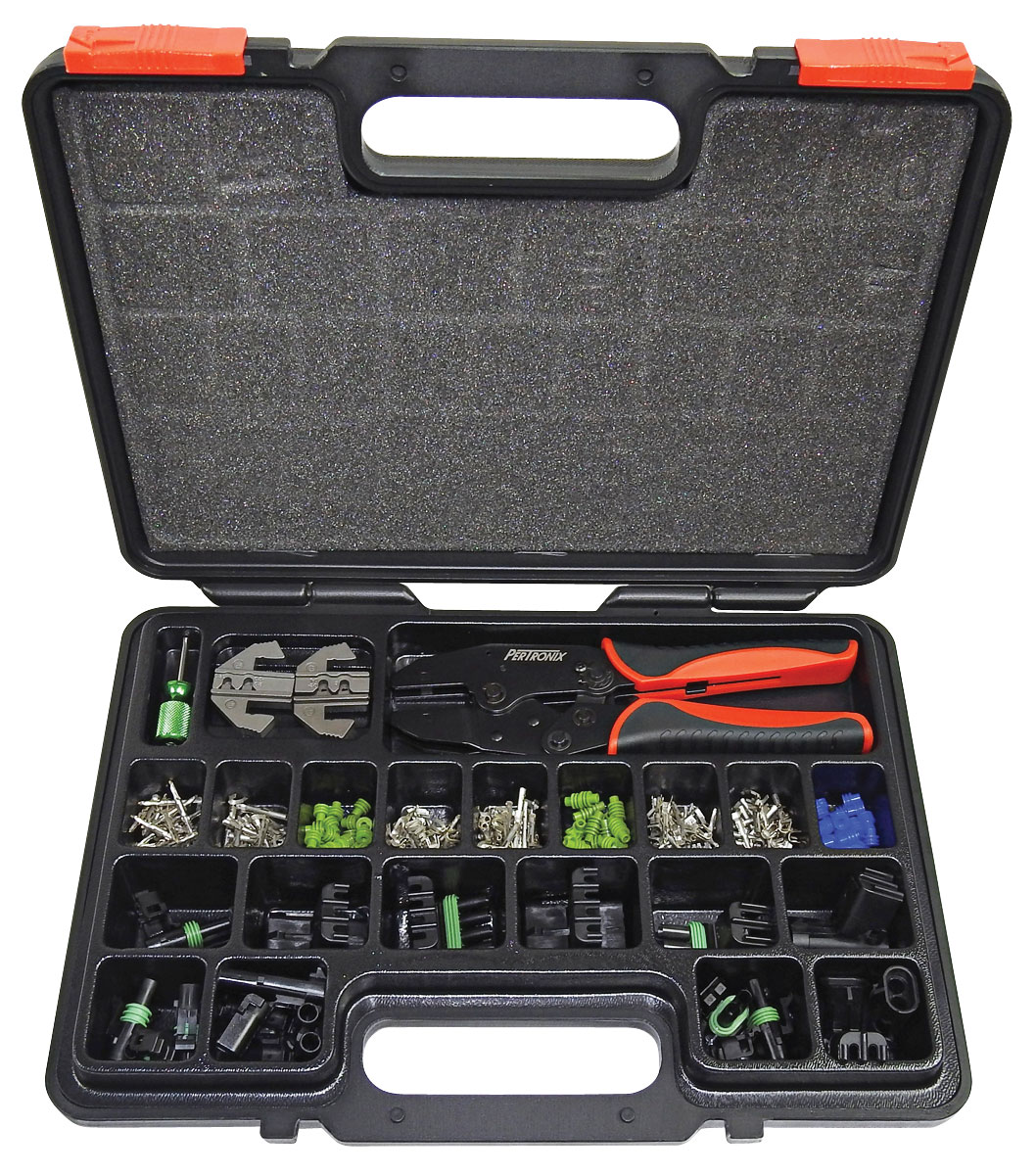 Photo of Ratchet Crimping Tool tool & connector set, 220 pc