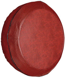 "1960 Catalina/Full Size Trunk Spare Tire Cover 15"" Red/Black (Houndstooth)"