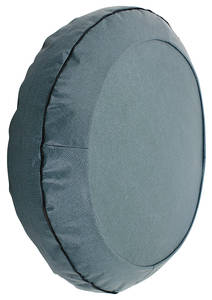 "1962-64 Grand Prix Trunk Spare Tire Cover 15"" Aqua/Black (Herringbone)"