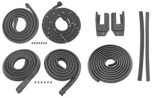 1965-1966 Bonneville Weatherstrip Kits, Stage I (Coupe) All Models