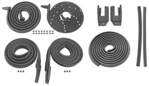 1963-64 Catalina/Full Size Weatherstrip Kits, Stage I (Coupe) All Models