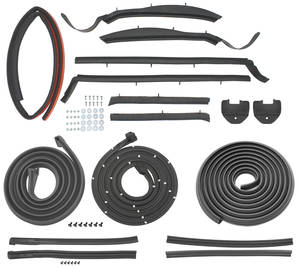 1959-60 Weatherstrip Kits, Stage I (Convertible) Bonneville/Catalina