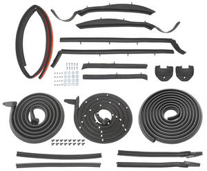 1963-1964 Bonneville Weatherstrip Kits, Stage I (Convertible) Bonneville/Catalina