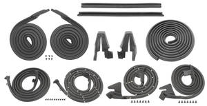 1967-68 Catalina Weatherstrip Kits, Stage I (4-Door Hardtop)