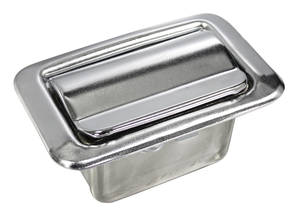 "1969-73 Tempest Ash Tray, Rear Armrest 2-7/8"" X 1-3/4"" (Zinc-Plated), by GM"