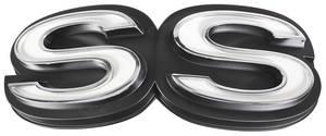 """1972-1972 El Camino Grille Emblem, 1972 """"SS"""""""