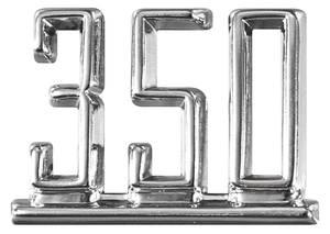 """1965-1967 El Camino Fender Emblem, 1965-67 """"350"""""""