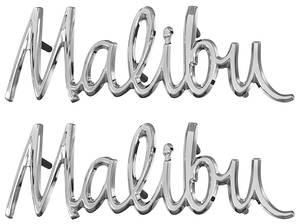 """Fender Emblem, 1968 """"Malibu"""", by TRIM PARTS"""
