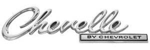 """Trunk Lid Emblem, 1969 """"Chevelle"""""""
