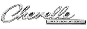 "Trunk Lid Emblem, 1969 ""Chevelle"""