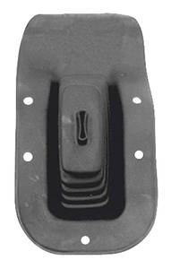 1968-72 Chevelle Gear Shifter Boot, Rubber w/Floor Console, by RESTOPARTS