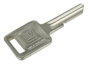 1968 Bonneville Key Blank Square - C