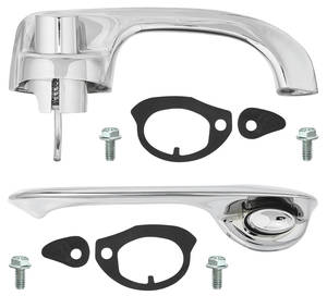 1968-1972 El Camino Door Handle Kit, Complete Outside Front El Camino & 2-dr. Wagon, by RESTOPARTS