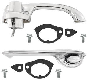 1970-1972 Chevelle Door Handle Kit, Complete Outside Front Chevelle, by RESTOPARTS