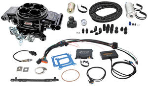 1964-77 Chevelle Quick Fuel Injection Master Kit Black Diamond