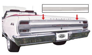Chevelle Rear End Molding, 1964 Upper