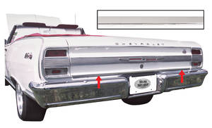 Chevelle Rear End Molding, 1964 Lower