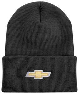 Bowtie Knit Ski Cap w/Gold & White Bowtie