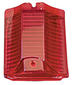 1964-1964 El Camino Tail & Back-Up Lamp Lens, 1964 El Camino & Wagon Red Lens