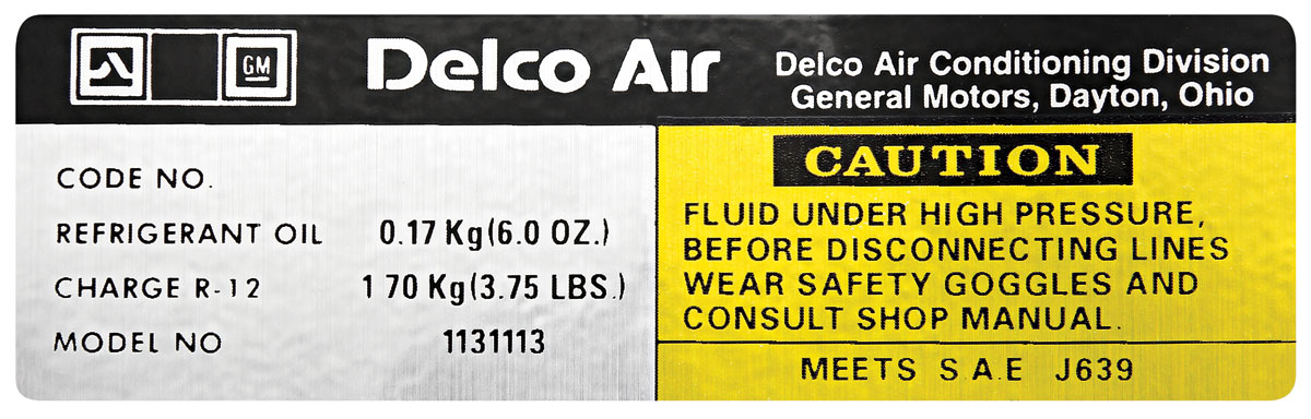 Photo of Decals, Delco AC Compressor (#1131142)