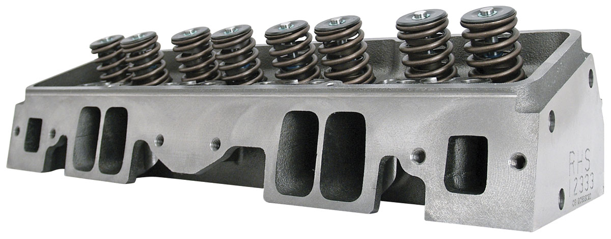 """Photo of Cylinder Heads, Small Block, RHS 235cc - 2.08""""/1.60"""" In/Exh Valve hyd. roller, 72cc, straight plug"""