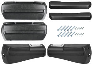"1968-69 Cutlass/442 Armrest Kits, Complete Front & Rear ""S"" (w/Rear Armrest Bases)"