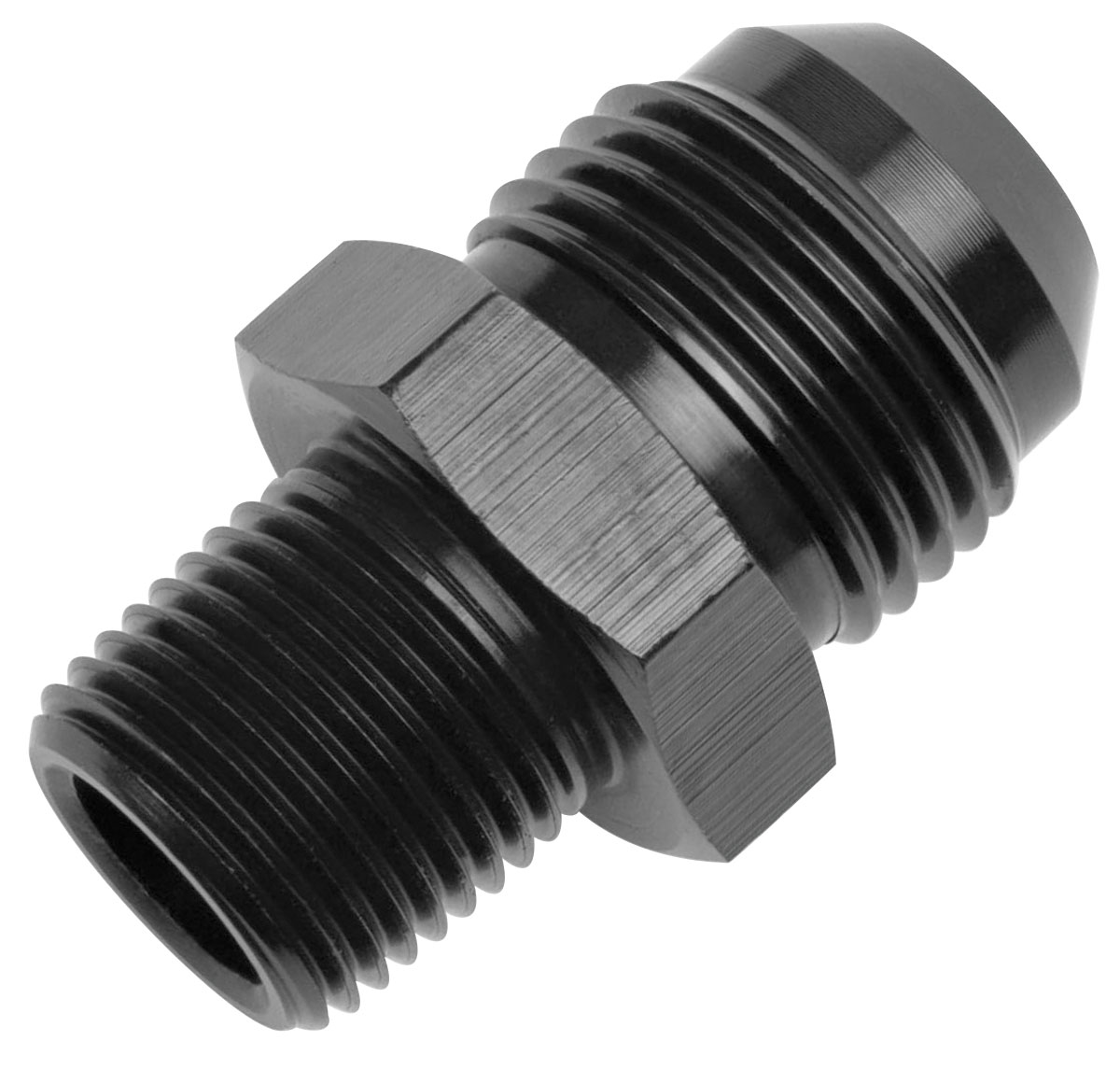 Photo of Adapter Fittings, Russell An-To-Npt, Straight -6 AN to 1/4""
