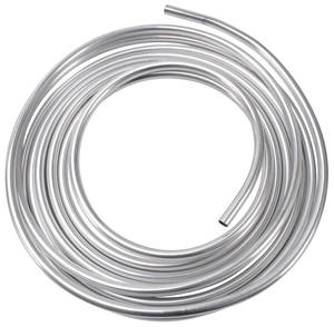 """1938-1993 60 Special Fuel Lines, Russell Aluminum 3/8"""", Natural"""