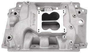 1967-1976 Riviera Intake Manifold, Performer Satin, Non-EGR, by Edelbrock